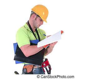 supervisor, inspeccionando