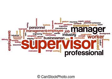 Supervisor word cloud