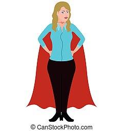 Isolated superwoman cartoon character. Vector illustration design