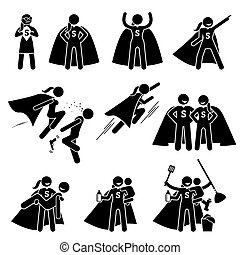 Superwoman Heroine Female Superhero. - Cliparts depicts a...