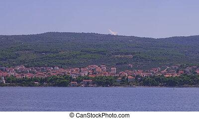 Supetar coastal - Sailing along the Supetar coast on the...