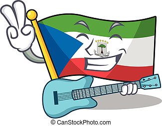 Supper cool flag equatorial guinea Scroll cartoon ...