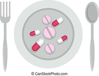 supplément diététique, illustration