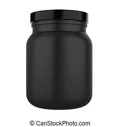 Supplement Bottle Isolated - Supplement Bottle isolated on...