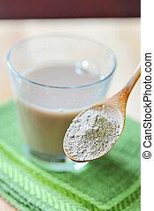 supplemento, nutritivo, argilla