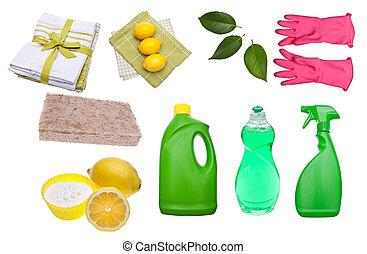 supplies, зеленый, уборка, разнообразие