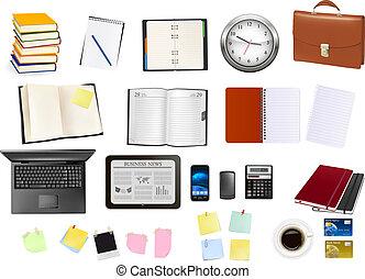 supplies., escritório negócio