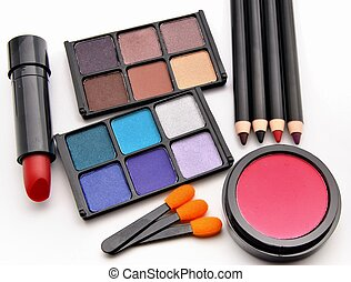 Supplies makeup - Paints for the eyes of various colors...
