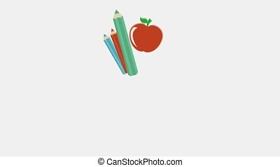 Supplies - School supplies, Animation Design, HD 1080