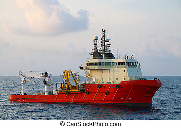 Supply boat operation shipping