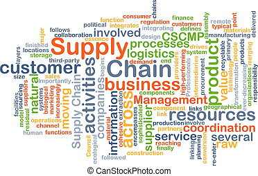 Supply chain background concept - Background concept ...