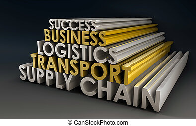 Supply Chain Business Logistics in 3d Focus