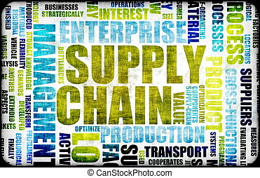 Supply Chain Management Background as Design Art