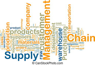Supply chain management wordcloud - Word cloud tags concept...