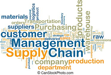 Supply chain management wordcloud - Word cloud tags concept ...