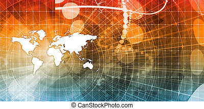 Supply Chain Network Logistics with World Map