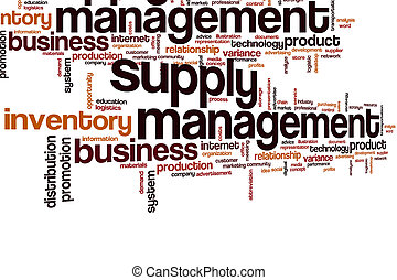 Supply management word cloud