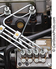 diesel engine detail - supply system for diesel fuel, clean...