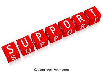 Support - 3D cube word