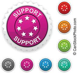 Support award button.