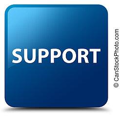 Support blue square button