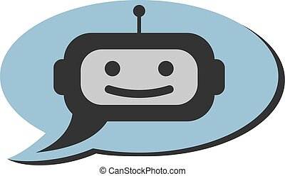 support bot or chat robot icon in speech bubble
