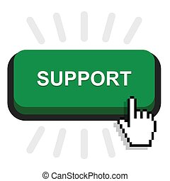 support button icon, vector