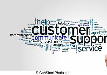 support client, mot, nuage