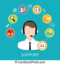 support client, service