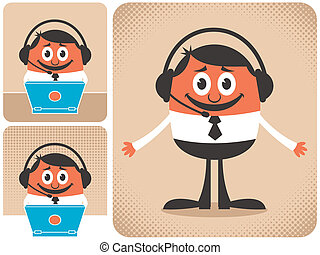 Support - Technical support guy in 3 different versions. No...