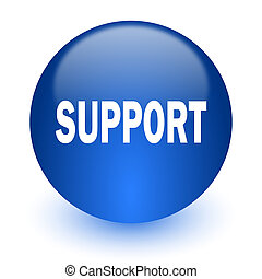 support computer icon on white background