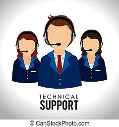 Support design over white background, vector illustration