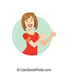 Support Emotion Body Language Illustration