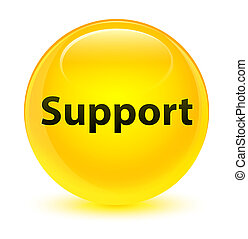 Support glassy yellow round button