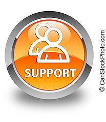 Support (group icon) glossy orange round button