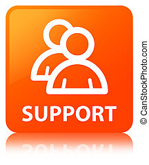 Support (group icon) orange square button