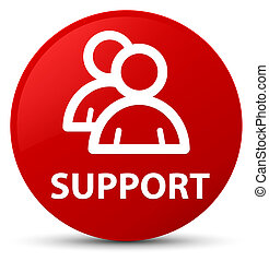 Support (group icon) red round button