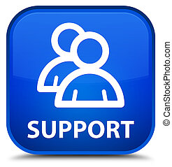 Support (group icon) special blue square button