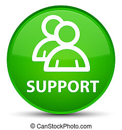 Support (group icon) special green round button