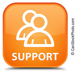 Support (group icon) special orange square button