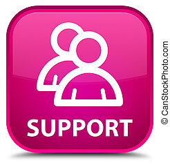 Support (group icon) special pink square button