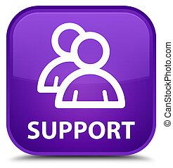 Support (group icon) special purple square button