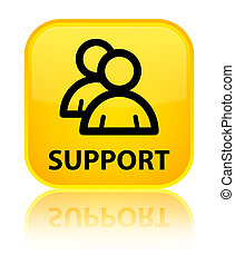 Support (group icon) special yellow square button