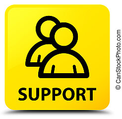 Support (group icon) yellow square button