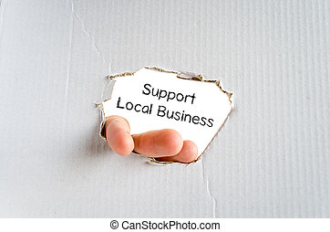 Support local business text concept