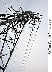 Support of line of electricity transmissions under snow