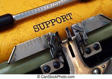 Support on typewriter