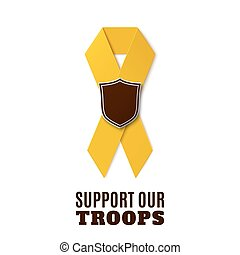 Support our troops yellow ribbon. - Support our troops....
