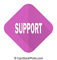 support pink flat icon