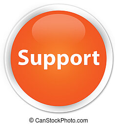 Support premium orange round button